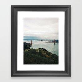 Golden Gate from Hawk Hill Framed Art Print