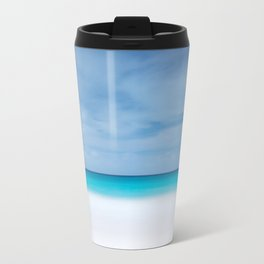 Tropical paradise beach turquoise sea ocean nature travel hipster Caribbean Fiji horizon photograph Travel Mug