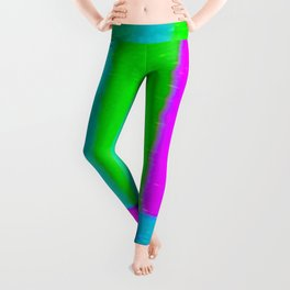 A distorted tv transmission or VHS tape, a badly eaten noisy signal of SMPTE color bars (a television screen test pattern). Vintage photo. Retro background. Leggings