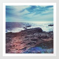 salt water Art Prints featuring Salt Water by Viviana Gonzalez