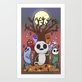 The Autumn Ghosts  Art Print