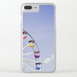 Carefree Summer of Love II Clear iPhone Case