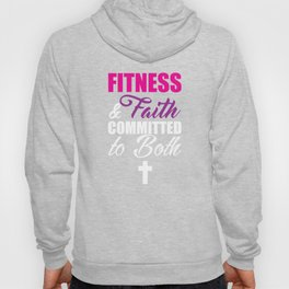 Fitness and Faith Committed to Both Married Gym Jesus Tee Hoody