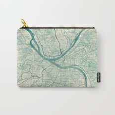 Pittsburgh Map Blue Vintage Carry-All Pouch