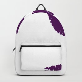Violet Kiss with white Background Backpack