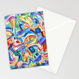 All that Jazz. Abstract expressionist design by Pamela Parsons Stationery Cards