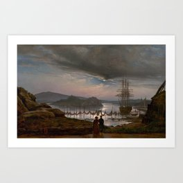 View from Vaekero near Christiania, Johan Christian Dahl, 1827 Art Print