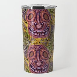 Sad Bee Hive Tiki Travel Mug