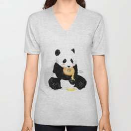 Little Panda Unisex V-Neck