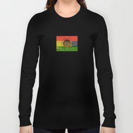 Old Vintage Acoustic Guitar with Bolivian Flag Long Sleeve T-shirt
