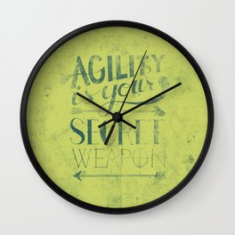 Agility is your secret weapon Wall Clock