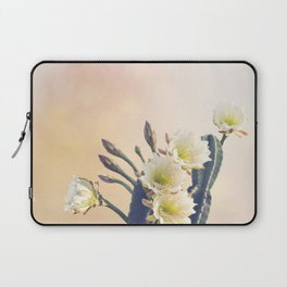 San Pedro Cactus with Beautiful White Flowers Laptop Sleeve