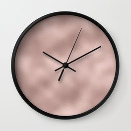 Rose gold - Smooth Champagne Pink Wall Clock