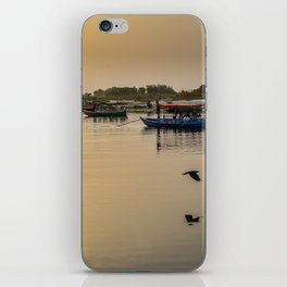 Riverbank - Calm dusky Red iPhone Skin