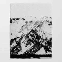 Minimalist Mountains Poster