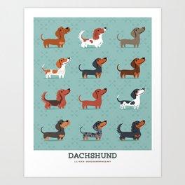 DACHSHUND Art Print