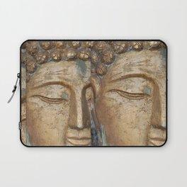 Golden Faces Of Buddha Laptop Sleeve