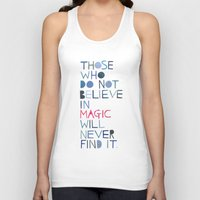 roald dahl Tank Tops featuring Believe in magic... by Madi