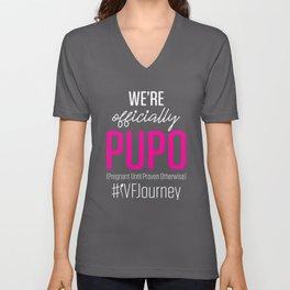 IVF Gift Warrior Dad Mom PUPO Transfer Day Infertility product Unisex V-Neck
