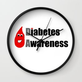 Diabetes Awareness Wall Clock