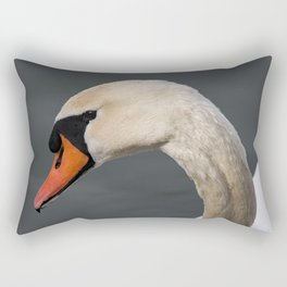 Mute Swan in Winter Rectangular Pillow