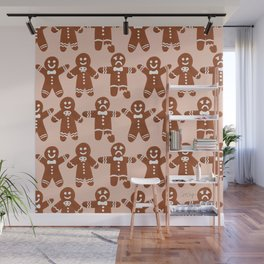 Gingerbread Men – Blush Palette Wall Mural