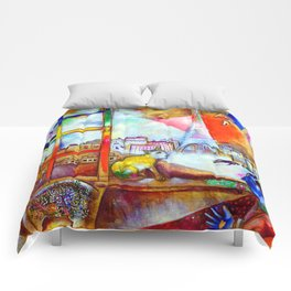 Marc Chagall Paris Through the Window Comforters