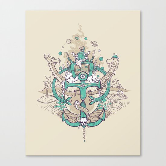 A happy caterpillar, amongst other things Canvas Print
