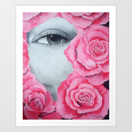 With my roses Art Print