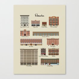 Edmonton Historical Buildings Canvas Print