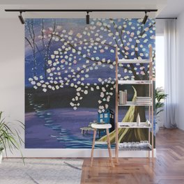 Tardis Art Alone And The Tree Blossom Wall Mural
