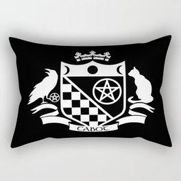 Cabot Crest Hermetic White/Black Rectangular Pillow
