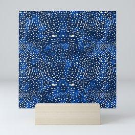 Whale Shark Skin (Blue and White Color) Mini Art Print