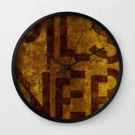 Pilsner Beer Typography Wall Clock