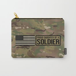 Proud Daughter of a Soldier Carry-All Pouch