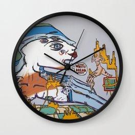 White Bread Wall Clock