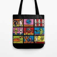 keith haring Tote Bags featuring Keith Haring & star W.2 by le.duc