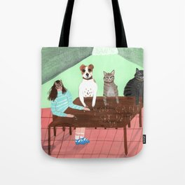 You can't sit with us Tote Bag