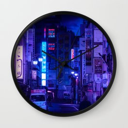 Tokyo Nights / Red Light District / Liam Wong Wall Clock