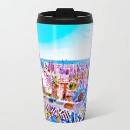 Park Guell Watercolor painting Travel Mug