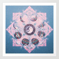 trippy Art Prints featuring Trippy by Sara Eshak
