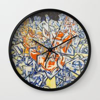 inception Wall Clocks featuring Concerted Inception by Eric Walker