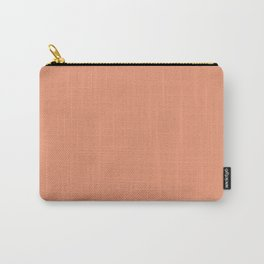 Designer Color of the Day - Shell Coral Peach Orange Carry-All Pouch