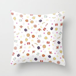 sailor moon pattern Throw Pillow