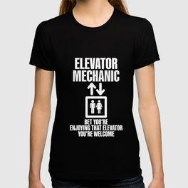 Elevator Mechanic Maintenance Enjoying Technician product T-shirt