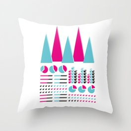 Infographic Selection Throw Pillow