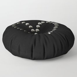Moon Heart Total Lunar Eclipse Floor Pillow