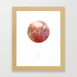 Leo horoscope sign constellation Framed Art Print