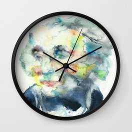 HORATIO NELSON - watercolor portrait Wall Clock