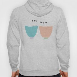 Kitchen Illustration Pastel Color Bowls Cups Coffee Soup Tea Hoody